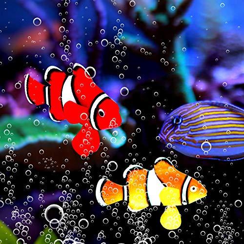 KUIDAMOS Roter, gelber, orange, schwarzer Aquarium Künstlicher Clownfisch für Aquarium
