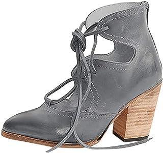 c6bb1052 Luckycat Zapatos Oxford Mujer Casual Derby Cordones Calzado Plano Vestir  Brogue Primavera Verano Casual Uniforme Trabajo