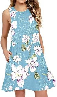 Women Summer Casual T Shirt Dresses Beach Cover up Plain...