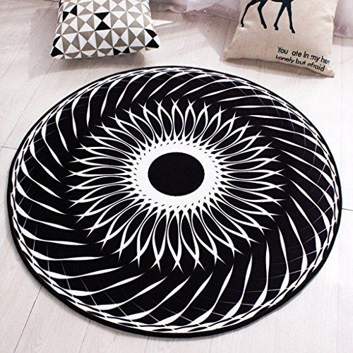 Good thing tapis Tapis Antidérapant Sunrise Mode Noir et Blanc Circulaire Tapis Salon Table Basse Tapis Chambre Étude Tapis (taille : Diameter 140cm)