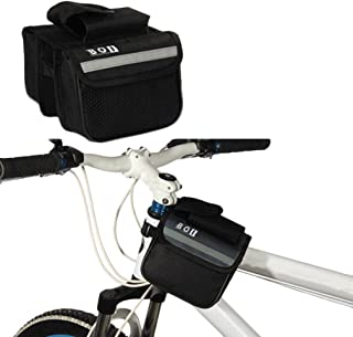 Hemore Cycling Bicycle Bike Top Frame Front Pannier Saddle Tube Bag Double Pouch