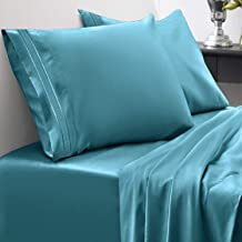 Sweet Home Collection 1800 Thread Count Bed Set Egyptian Quality Brushed Microfiber 4 Piece Deep Pocket Sheets Full Teal