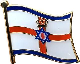 Tanto Badges Ulster e Israel - Pin de metal con diseño de bandera unionista (25 x 20 mm)