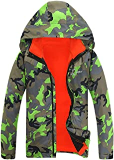 XQXCL Couple Coats, Casual Autumn Winter Warm Jacket Ski Jacket Windbreaker Fleece Down Jacket Camouflage Outdoor Coat