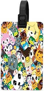 HappyToiletLidCoverX Animal Crossing New Leaf Tsum Tsum Pattern Luggage Tags Baggage Cards for Cruise Ships 2.2 X 3.7 Inch