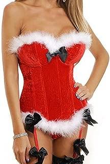 Women's Christmas Corset for Christmas Santa Costume Bustier Overbust Lingerie