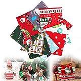 Sporgo 10 Stücke Baumwollstoff Weihnachten