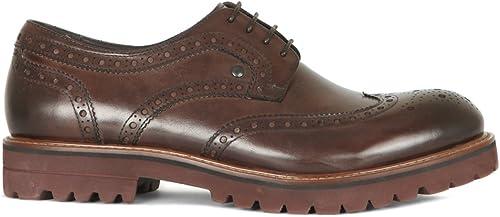 TJ Collection GW 7218515 Bra - Zapaños de Cordones de Cuero para Hombre marrón marrón