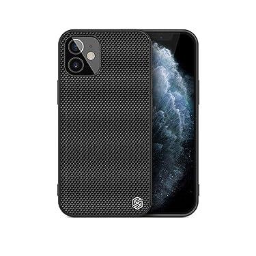 "Nillkin Case for Apple iPhone 12 Mini (5.4"" Inch) Textured Series Nylon Fiber Tough & Durable PC + TPU Material Luxury Protect Black"