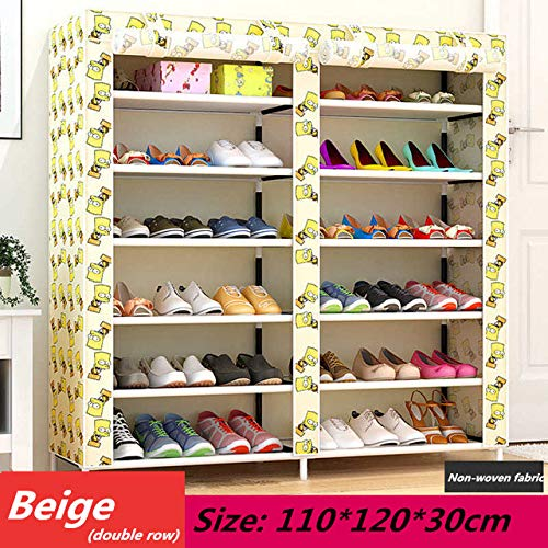 Kaeiin Schoenenrek, eenvoudig gemonteerde kunststof, meervoudige lagen schoenen, rek, opbergen, organisator, houder voor ruimte groen