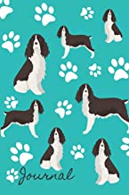 Journal: Anxiety Journal and Coloring Book 6x9 90 Pages Positive Affirmations Mandala Coloring Book - English Springer Spaniel Dog Cover