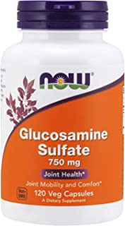 NOW Supplements, Glucosamine Sulfate 750 mg, with UL Dietary Supplement Certification, 120 Capsules