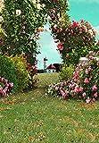Flores de Primavera césped Verde césped Bosque jardín Fondos para fotografía niño Ducha Foto telón de Fondo Estudio fotográfico A16 7x5ft / 2,1x1,5 m