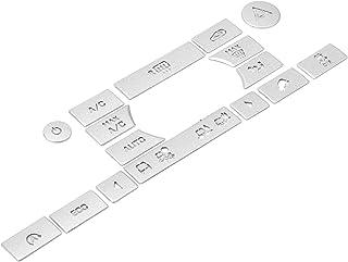 01 Capa de botão A/C, fácil de limpar, liga de alumínio, decoração de botão automático, uso resistente no carro para decor...