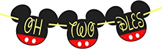 Mickey oh two-dles | oh two-dles birthday | oh two dles birthday party supplies | Mickey Mouse Birthday Banner| Mickey mouse party supplies| Mickey mouse clubhouse party (Mickey Mouse 6 Inc Head)