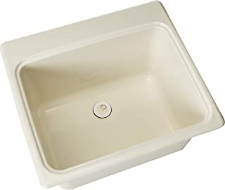 Swan SSUS1000.018 Dual Mount Solid Surface Utility Sink-Bisque, 22
