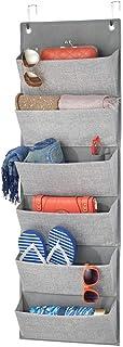 mDesign étagère suspendue sans perçage – rangement suspendu en polypropylène respirant à 6 poches pour la chambre d'enfant...