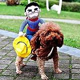 ZHAOZX Halloween-Kostüm für Hunde, Cowboy-Kostüm, Mantel für Hunde, lustige Französische...