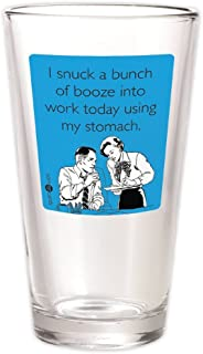 Someecards 16 oz Pint Glass - by 30 Watt. Hilarious funny beer glass. (blue)