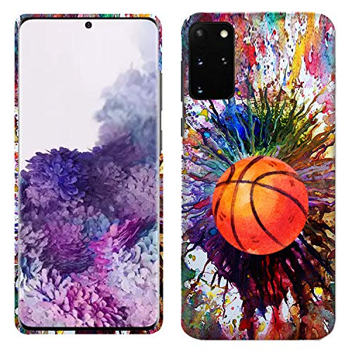 Glisten Samsung Galaxy A51 Case - Vintage Color Basketball Printed Slim Fit & Cute Plastic Hard Snap on Designer Back Galaxy A51 Case/Cover [Not for A51 5G]