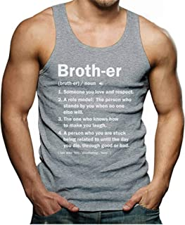 Brother Definition Funny Big Brother Gift Idea Men's Tank Top