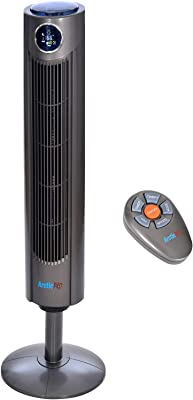 Arctic-Pro Digital Screen Oscillating Tower Fan with Remote Control, Dark Gray, 42-Inch (Renewed)