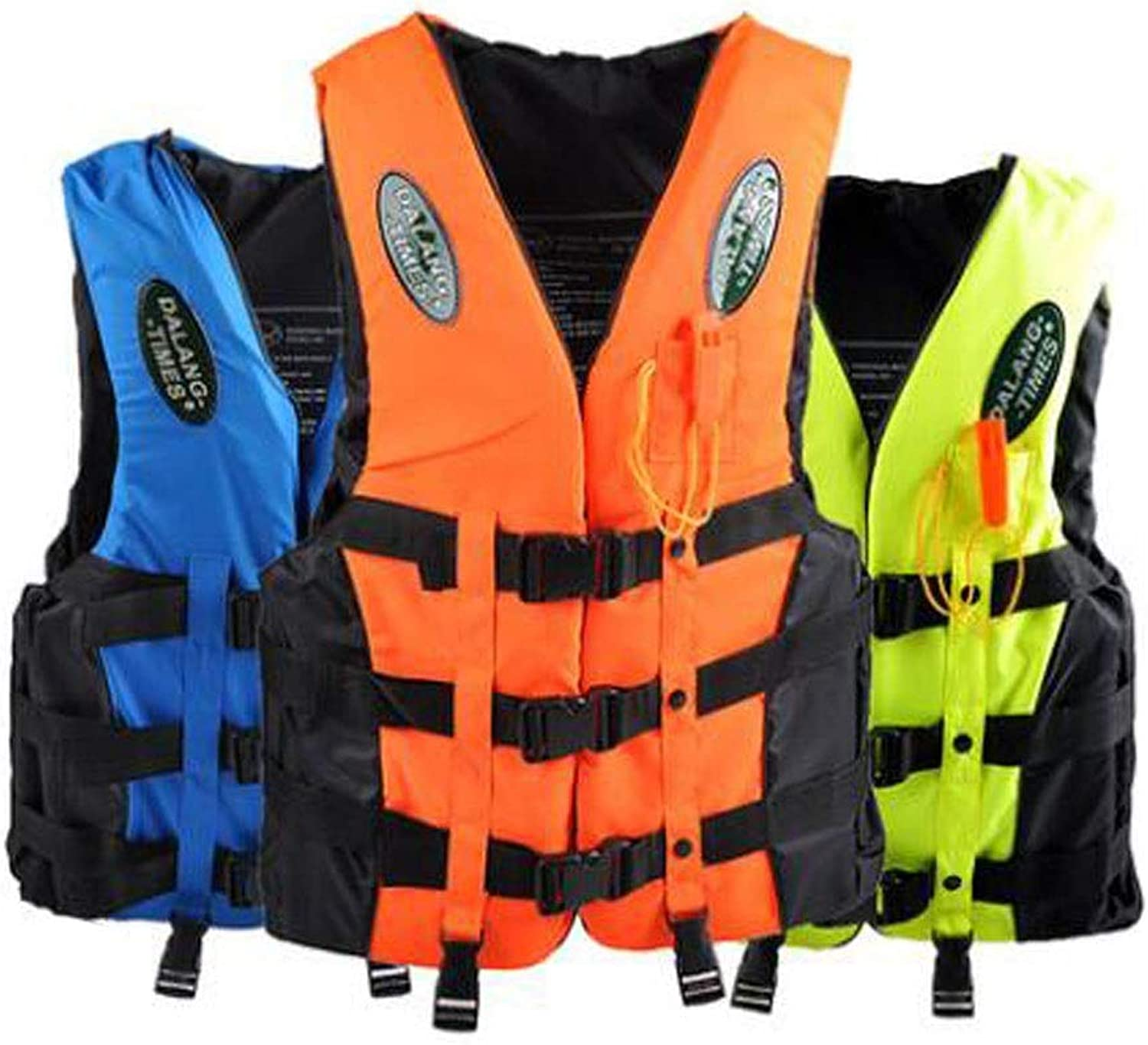 Aishanghuay Inflatable Life Jacket Adult Swim Vest for Snorkeling, Swimming, Outdoor Play, Size L, XL, XXL, XXXL, color  bluee, Green, orange Fashion