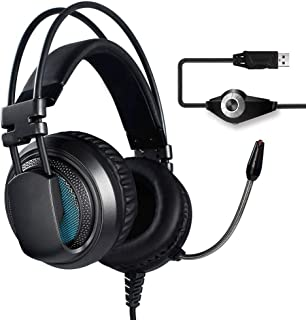 Ps4 headphones E-sports Gaming Headset Noise Isolation Wired Headset Headset 7.1-Surround Sound StereoWith Microphone xbox headsets (Color : Gray)