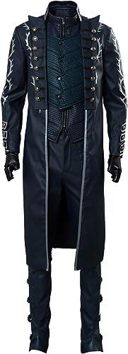 comprar ahora MingoTor Devil May Cry V Vergil Aged Outfit Disfraz Traje Traje Traje de Cosplay Ropa Hombre XS  el mas reciente