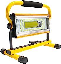AF-WAN Draagbare Oplaadbare Schijnwerper, 100 W LED Werklamp 7000LM Verstelbare Staande Flood Lights met USB Autolader voo...