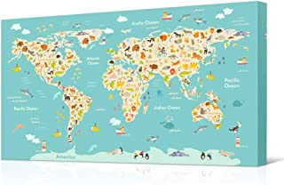 Best animal world map canvas Reviews