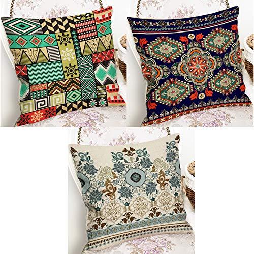 Federe cuscini divano copricuscini cuscini decorativiFedera quadrata stile etnico lino corto peluche federa per divano da casa 2 pezzi ~ 4 pezzi federa