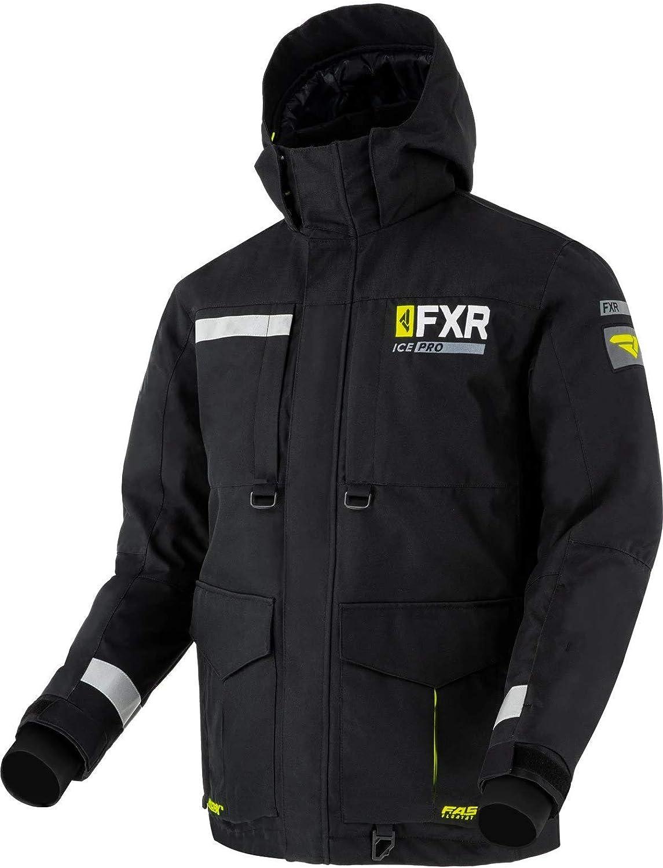 FXR Men Excursion Ice Pro Jacket Black//Hi-Vis - 2X-Large