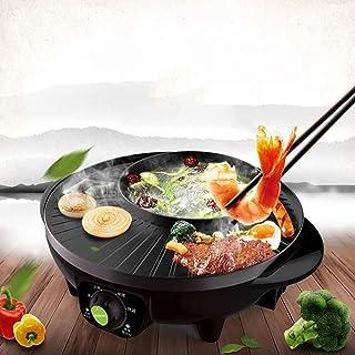 Gkingif-Olla caliente Sartén Eléctrica Multi del Horno De La Parrilla del Propósito De La Cocina del Plato De La Carne Asada del Propósito Integrado 1600W