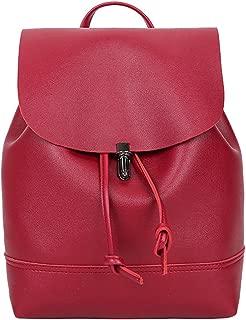 JJLIKER Women Leather Backpack Satchels Fashion Casual Waterproof Handbags Bucket Crossbody Shoulder Flap Bags