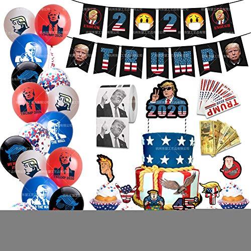 BINGFENG Donald Trump Partei-Dekoration 2020 Präsident Halten Sie Amerika Große Aufkleber Confetti-Ballon Geeignet Für Partydekoration Parade Wahltag Feiern