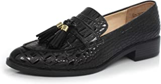 Women's Brandon Chain Decorated Penny Loafers Low Heels Almond Toe Casual Daily Shoe