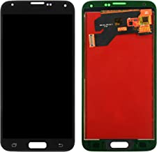 Screen Replacement for Samsung Galaxy S5, Compatible with Model G900M G900A G900T G900FD LCD Display Touch Screen Replacement Digitizer Assembly with Repair Tools Kit (Black)