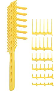 CombPal Scissor Clipper Over Comb Hair Cutting Tool Barber Kit Pro Haircutting (Yellow)