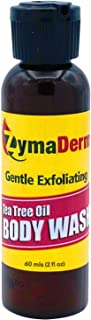 ZymaDerm Natural Tea Tree Oil Body Wash, Gentle Exfoliating Tea Tree Essential Oil for Kids & Adults, Ideal for Molluscum ...