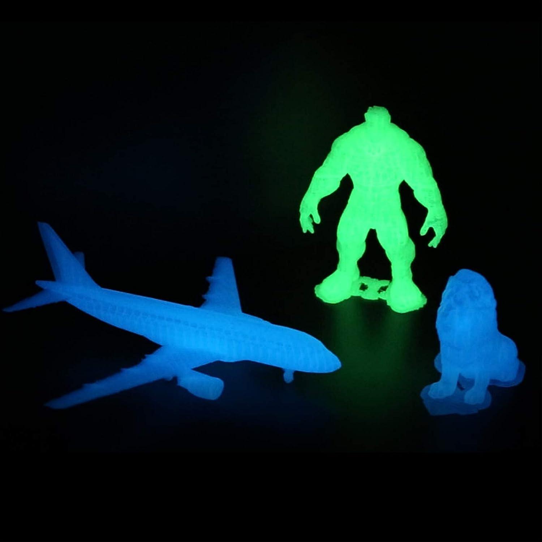 AMOLEN 3D Printer Filament Bundle,PLA Filament 1.75mm Bundle,Glow in The Dark PLA Filament,Glow Green and Blue 3D Printing Filament Bundle,1kg X 2 Spools