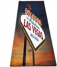 Draagbaar Yogamat Antislip,Fitness-Oefenmat,Welkom Bij De Las Vegas Eco-Vriendelijke Gymnastiekmat,Vloertraining En Pilatu...