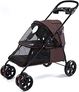 Pet Gear Pet Stroller for Single Or Multiple Dogs/Cats, Pet Can Easily Walk in/Out, No Need to Lift Pet,Brown