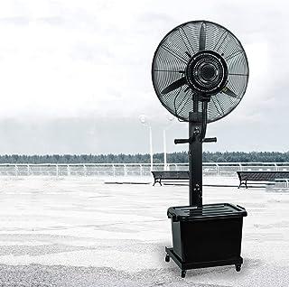 XFPINK Refrigeración por Agua Aire Acondicionado Spray atomizador Ventilador de Pedestal Negro Grande con Ruedas Acero Inoxidable para Restaurante de Oficina Industrial (71cm / 81cm)