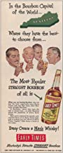 RelicPaper 1951 Early Times Whisky: Bourbon Capital of the World, Early Times Distillery Print Ad