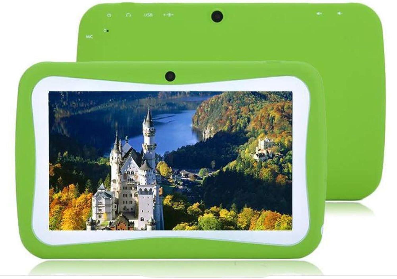 Tablette pour enfants avec HD de 7 pouces pour écran tactile Tablette pour enfants 1 Go de RAM 8 Go de ROM avec Wi-Fi Double caméra écran tactile pour la formation éducatif Contrôle parental,vert