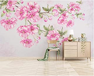 hand painted cherry blossom wallpaper