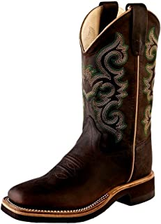 Old West Kids Boots Unisex Square Toe Crepe Sole Brown