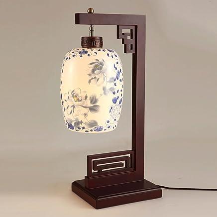MILUCE 現代のシンプルなセラミックランプリビングルームの寝室の研究装飾的なベッドサイドランプ中国のランプ