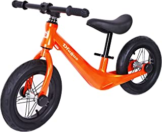 """Kids Balance Bike for 2,3,4 and 5 Years Old No Pedal Bicycle, 12"""" Beginner Toddler Bike with Air Tires and Adjustable Seat..."""
